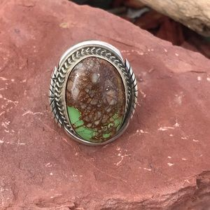Navajo Sterling Silver Turquoise Ring Sz 6